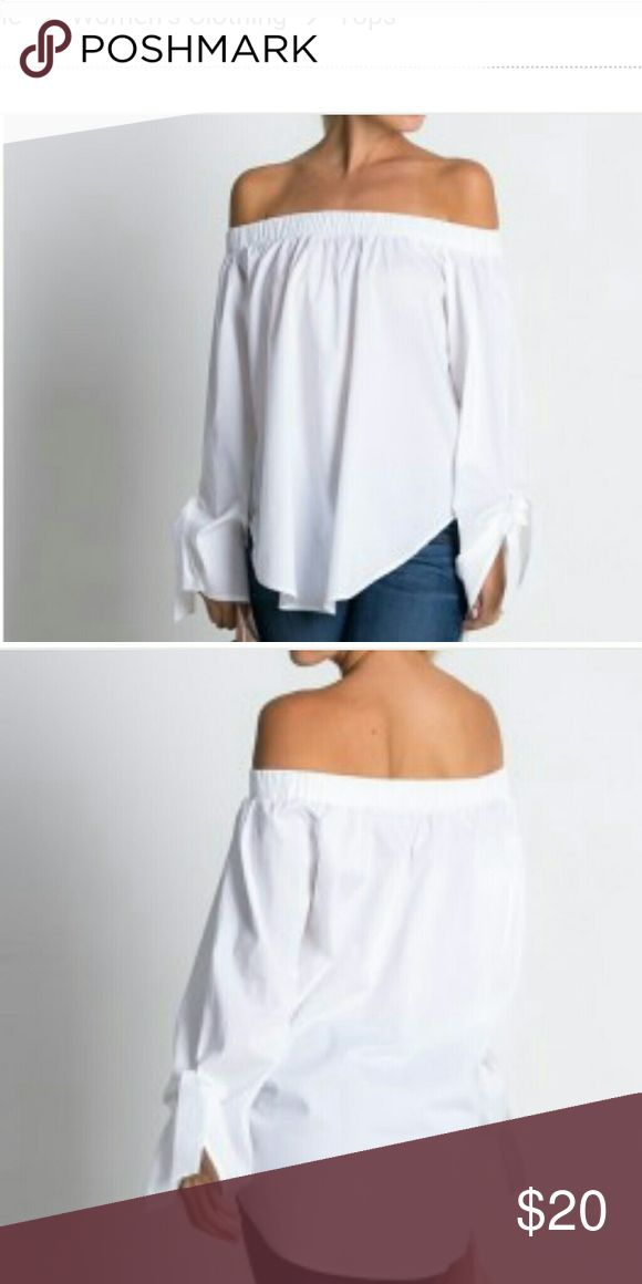 Top White off the shoulder blouse Tops Blouses