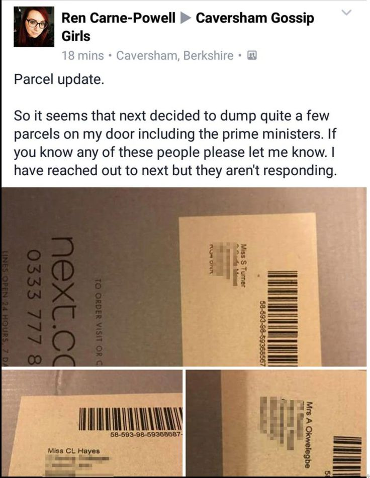 Bungling Next delivery driver dumps pile of parcels on random doorstep including one meant for THERESA MAY