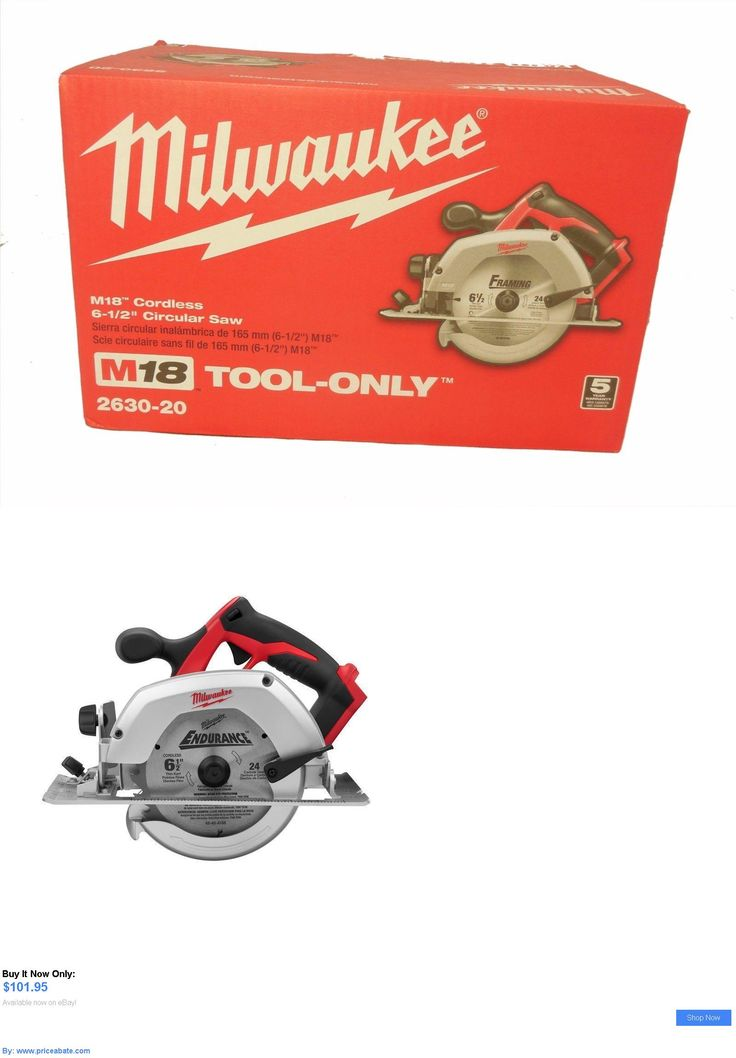 tools: New Milwaukee 2630-20 M18 18 Volt Lithium-Ion 6-1/2 Cordless Circular Saw BUY IT NOW ONLY: $101.95 #priceabatetools OR #priceabate