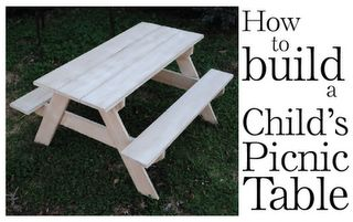How to Build a Child's Picnic table with step-by-step instructions. So Easy!