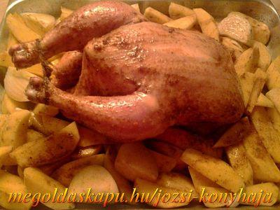 2.) Csirke egészben sütve http://megoldaskapu.hu/csirke-receptek/csirke-egeszben-sutve