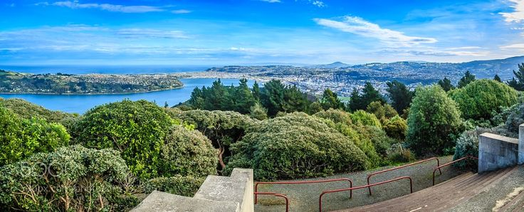 Dunedin from Mt Cargill - Dunedin (Listeni/dʌˈniːdᵻn/ dun-ee-din; Māori: Ōtepoti) is the second-largest city in the South Island of New Zealand and the principal city of the Otago region. It is named for the capital of Scotland generally Anglicised as Edinburgh (with burgh being a literal translation of the Gaelic dùn meaning fort).   http://ift.tt/1rsGY50  Mount Cargill known in Māori as Kapukataumahaka[1] is a volcanic outcrop which dominates the skyline of northern Dunedin New Zealand…