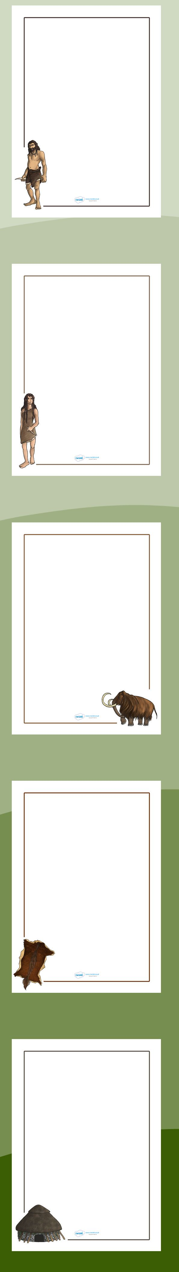 KS2 The Stone Age- The Stone Age Page Borders