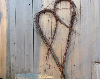 Rustic Heart Wreath from Eco Friendly Bentwood Twigs