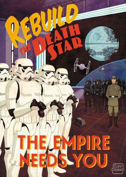 these are great :): War Propaganda, Stars War Poster, Propaganda Poster, Death Stars, Types Poster, Poster Frame-Black, Dark Side, Cliff Chiang, Starwars
