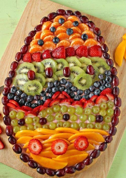 Easter Fruit Pizza