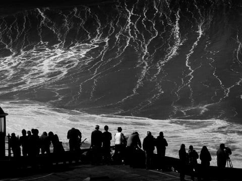 Nazaré - Black Carnival. Watch this surf video now.