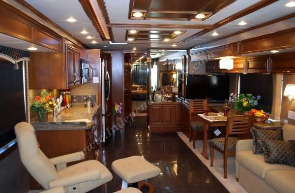 Luxurious Motorhomes Interior | 2011 Newmar Mountain Aire 4333 Luxury Motorhome Interior Front to Back