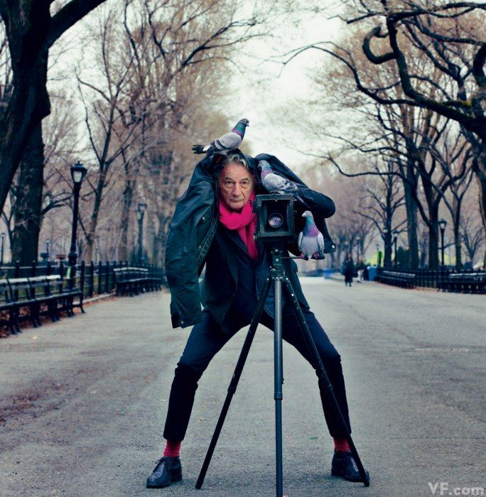 Sir Paul Smith in Central Park, New York City, photographed by Annie Leibovitz for Vanity Fair