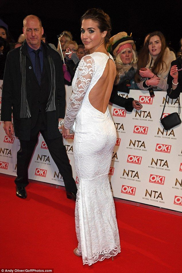 Bit of all white!Gemma Atkinson was a vision of beauty in a backless white gown as she attended the National Television Awardsat London's O2 Arena on Wednesday evening