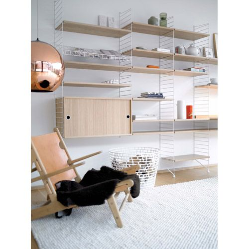 String Shelving System White And Oak, With This Stylish And Practical Shelf  Storage Unit You Have Lots Of Shelf Storage, A Work Desk And A Magazine Rack  ... Photo Gallery