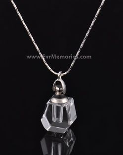 carson crystal cremation pendant