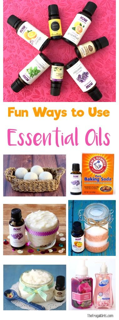 22 Creative Ways to Use Your Essential Oils!  So many fun DIY tips for salts, scrubs, homemade cleaners, and more!   TheFrugalGirls.com