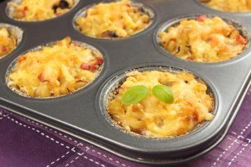 Weitere Kinder Rezepte: Nudel-Muffins für Kinder
