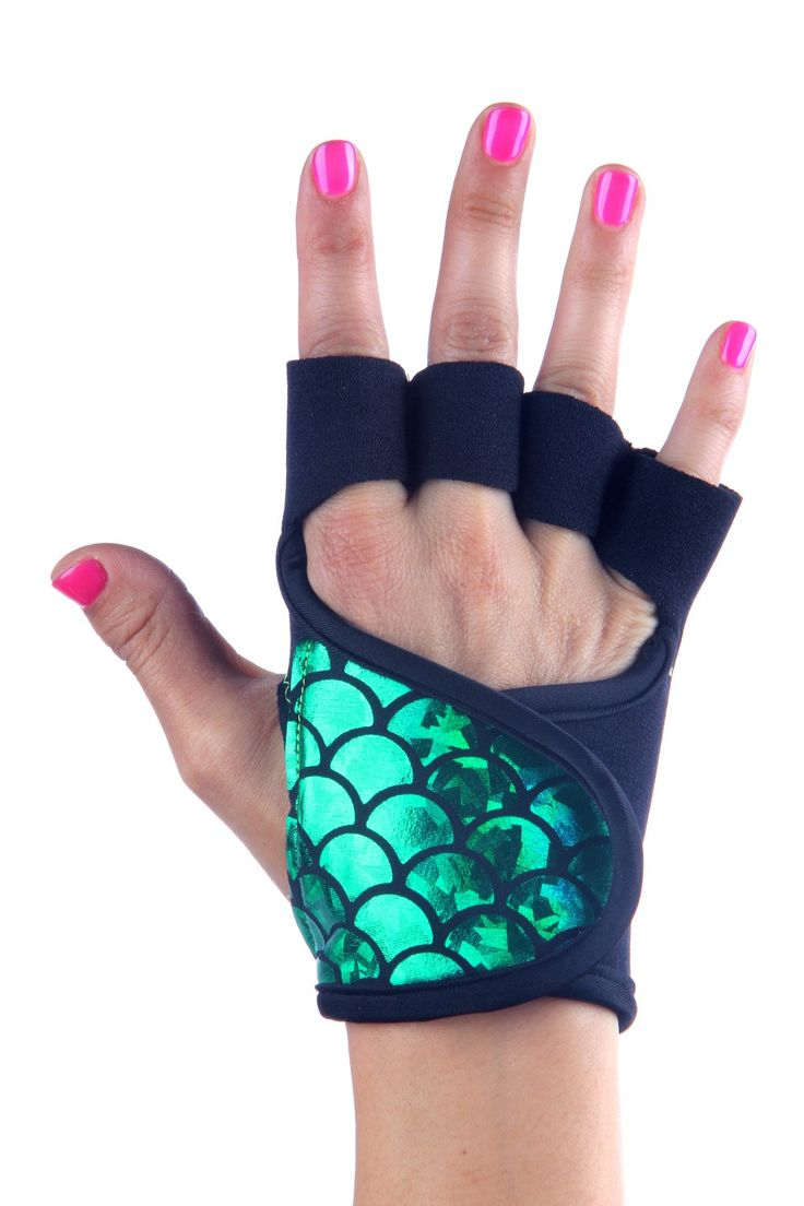 Mens piloxing gloves - Workout Gloves Blue Fish Scale