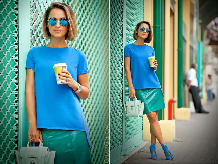 colorblock summer outfit by GalantGirl.com