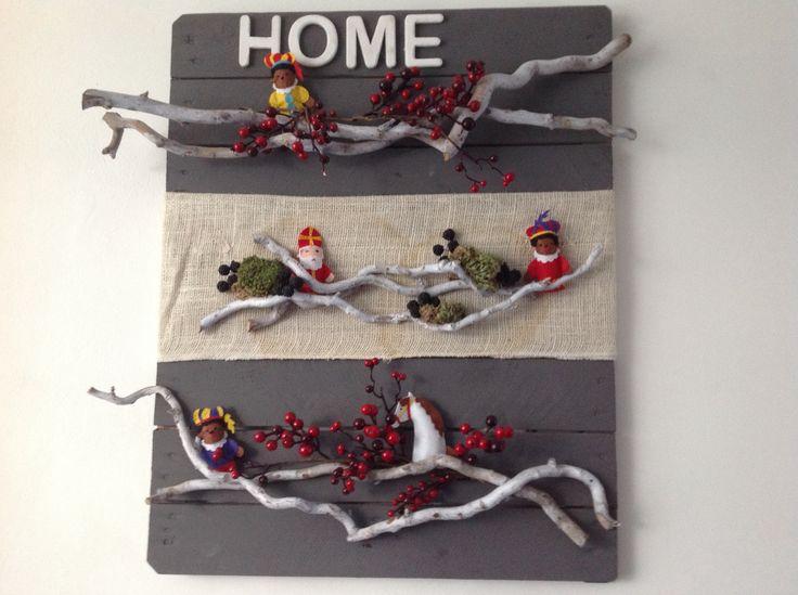 Sinterklaas decoratie op een pallet