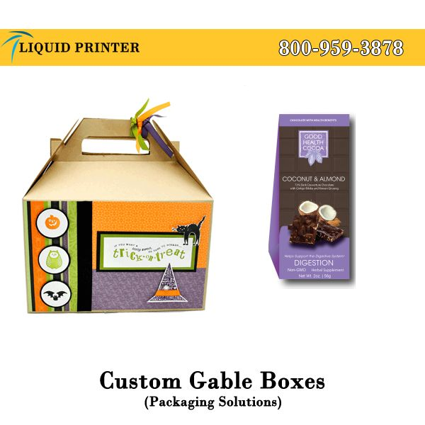 Provide #GableBoxes in different sizes and shapes with full color printing service.