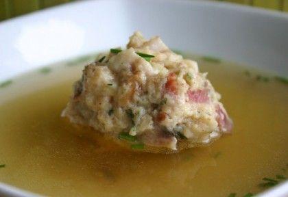 Szalonnagombóc leves   NOSALTY – receptek képekkel
