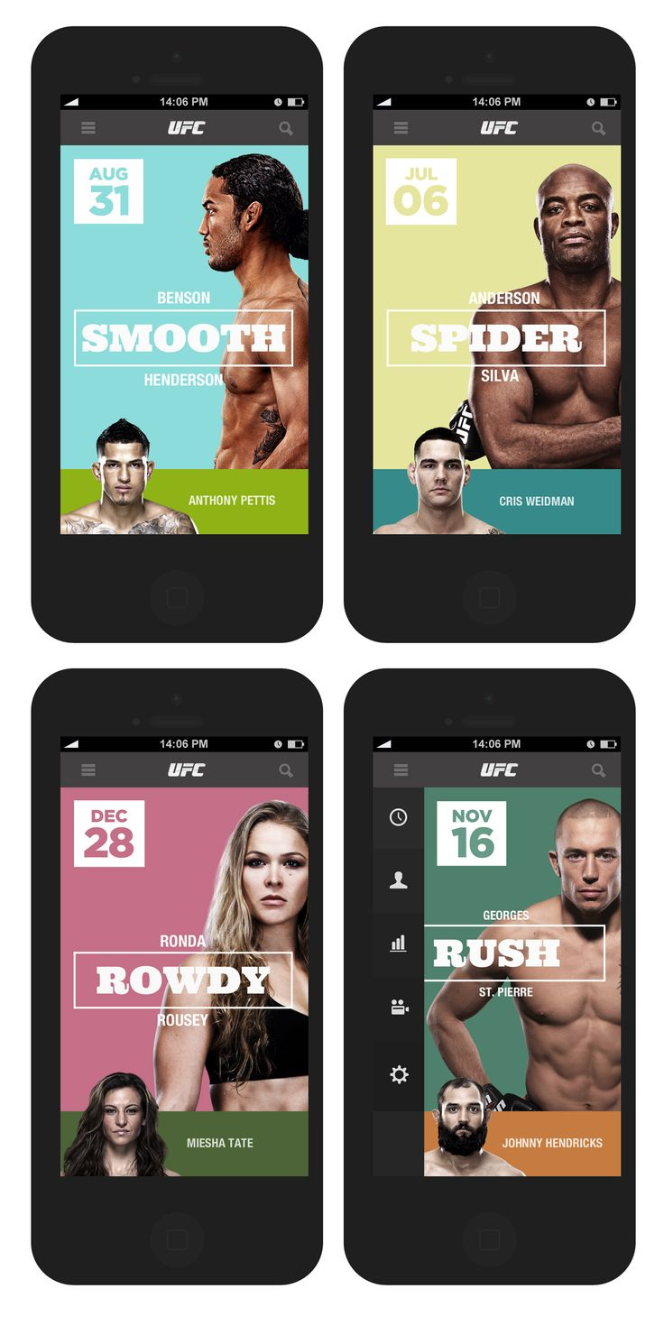 UFC Calendar Heroes. APP