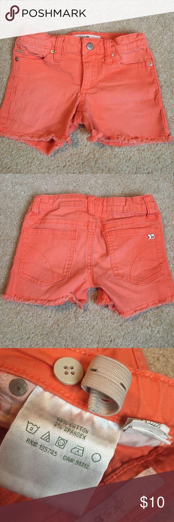 Joes jeans girls shorts Orange shorts by Joes Jeans, size 5. Adjustable waistband, 98% cotton, 2% spandex Joe's Jeans Bottoms Shorts