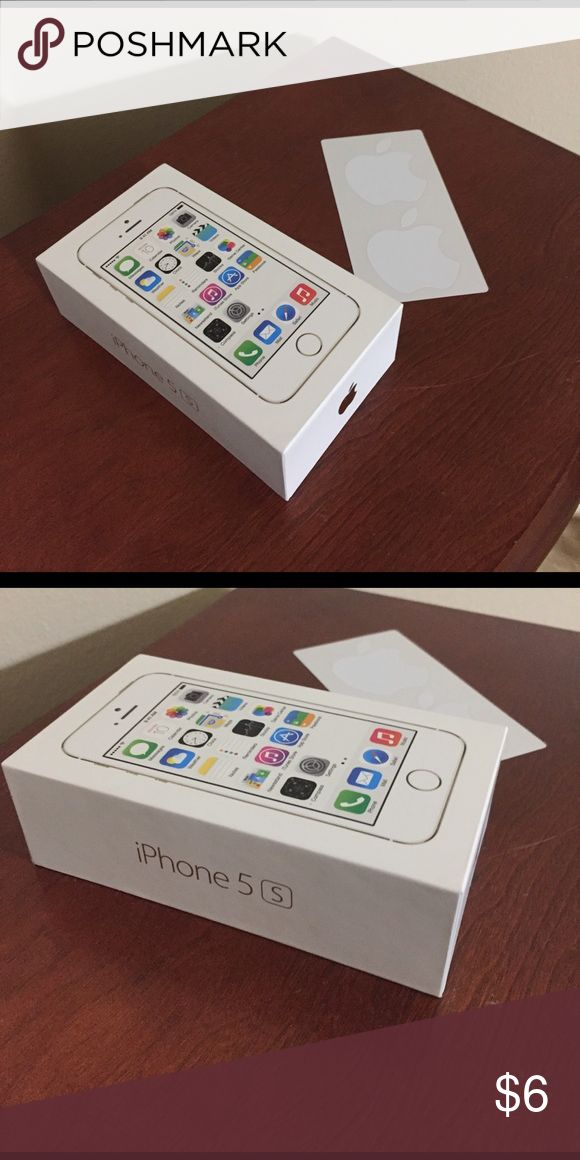 iPhone Box with 2 Apple 🍎 Stickers Box & Stickers Apple Other