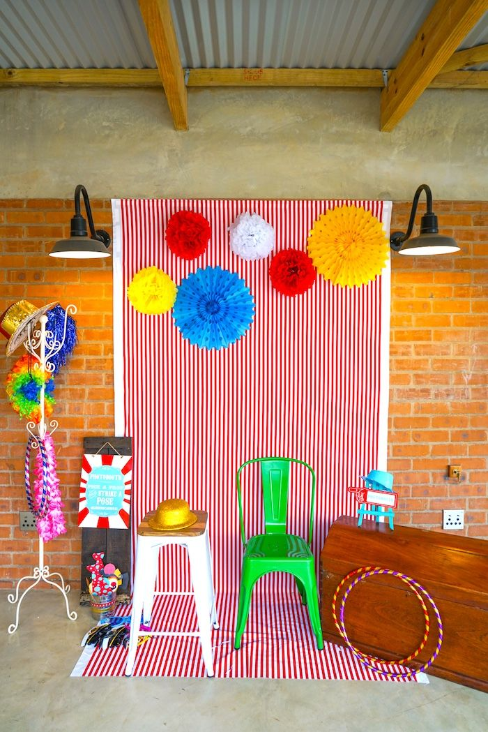 Photo booth from a Backyard Carnival Party on Kara's Party Ideas | KarasPartyIdeas.com (16)
