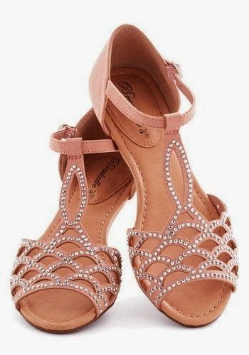 Nude studded sandals. Would look perfect with a pretty Spring dress.