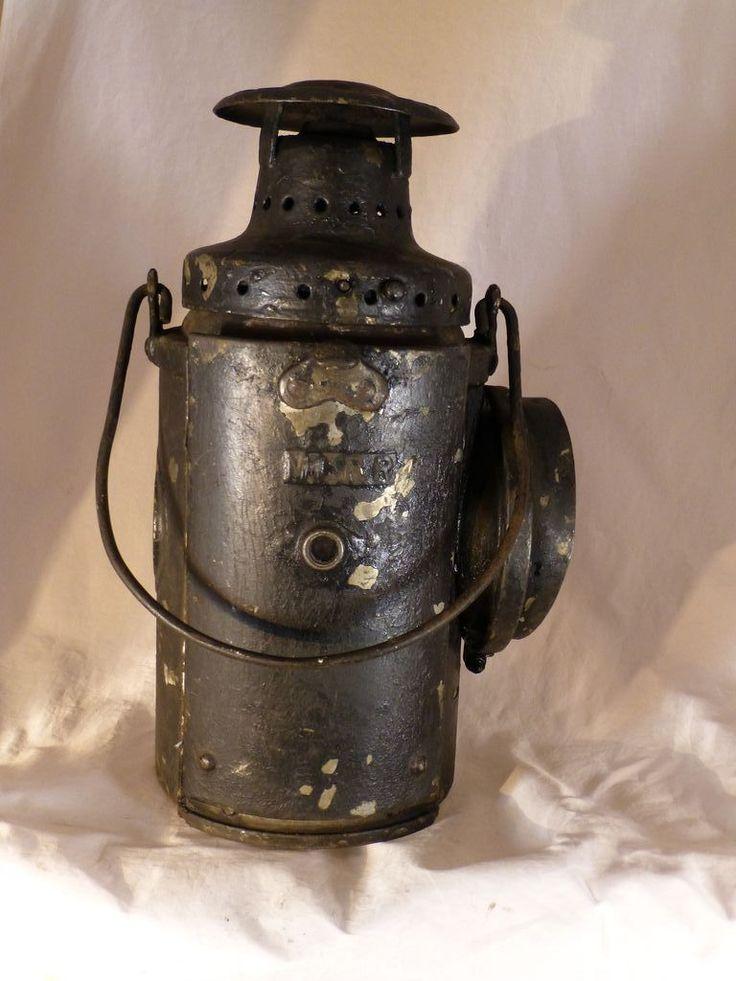 Vintage Railroad Lantern Lamp Boston By Gray