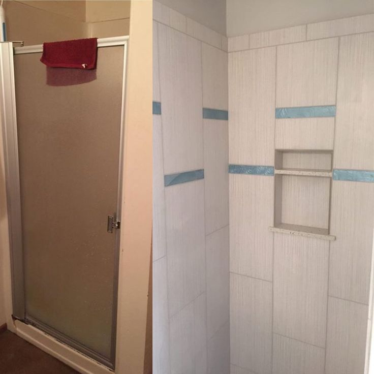 Just finished the tile work in this shower stall! What a difference from the one piece shower insert that the bathroom originally had.