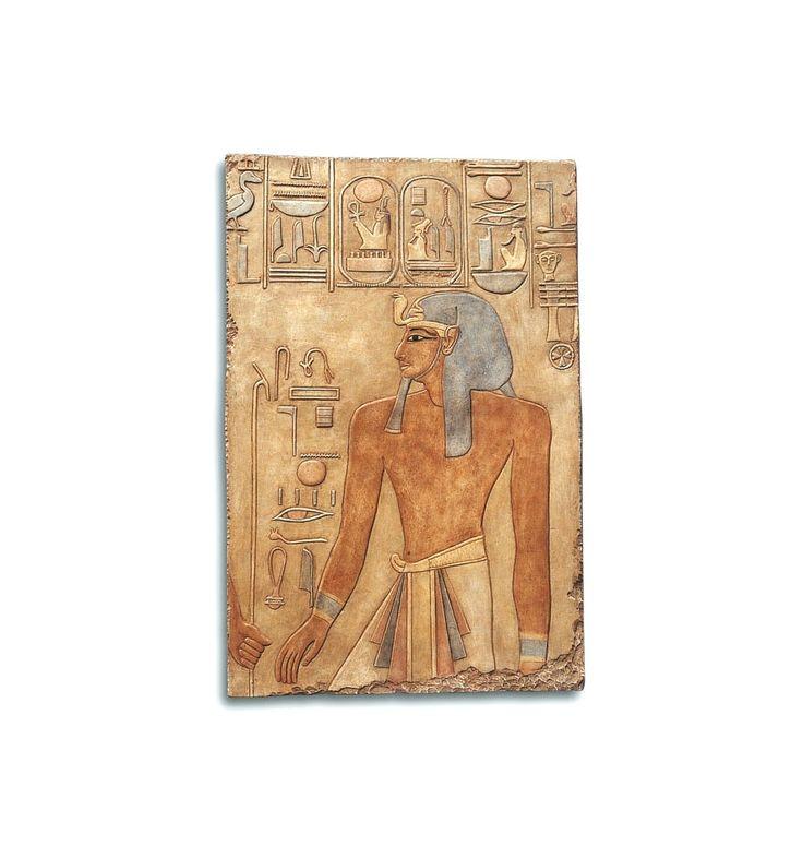 Relieve Seti I | Relieve policromado | Arte egipcio | Artesanía