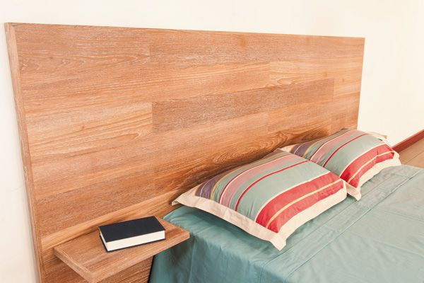 Tete de lit sur mesure en teck