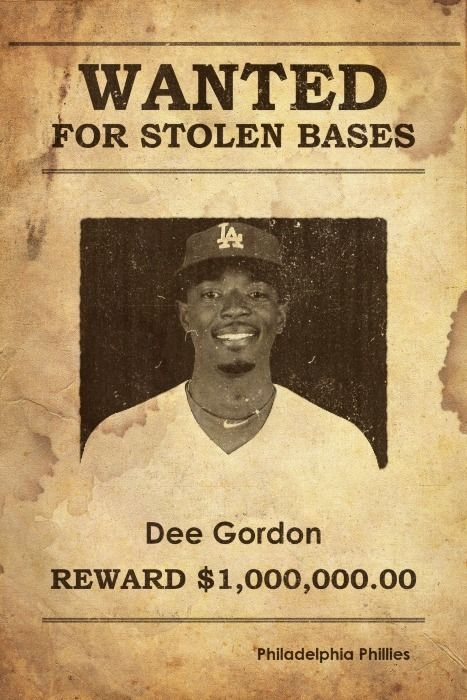 Wanted for robbery, leads league in stolen base (36)