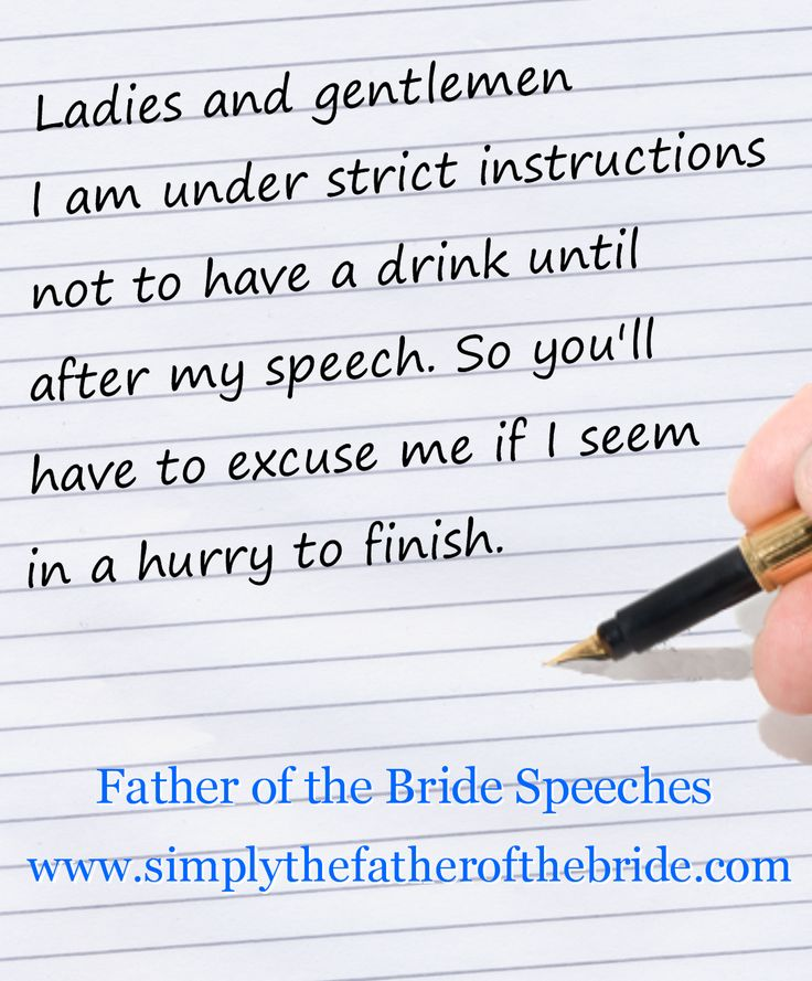 Father Of The Groom Speech: Father Of The Bride Speeches