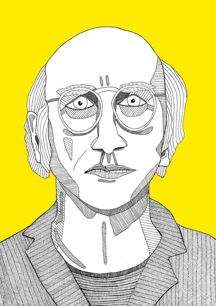 Larry David // Illustration by Amanda Berg