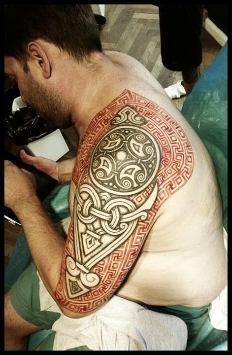 Viking tattoos by Peter Walrus Madsen (DK) [http://imgur.com/gallery/cguqx]