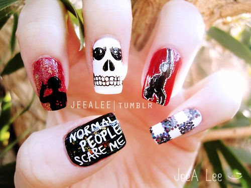 American Horror Story Nails | Tate Langdon by JeeA Lee