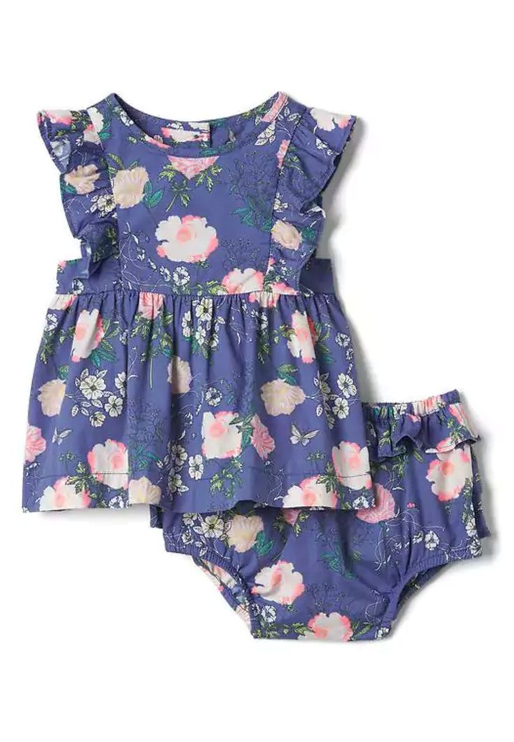 Floral Flutter Top & Bloomers | Gap