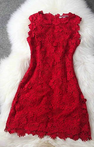 I don't have a red dress... I'm thinking this might be a good one!