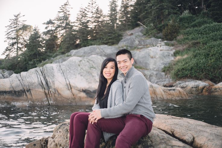 Matching sweater and pants :)  Engagement shoot in Lighthouse Park, West Vancouver, BC