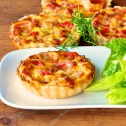 Cherry tomatoes and gouda tarts by oliveoilandlemons