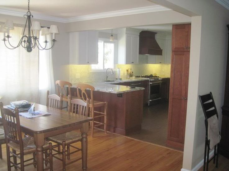 Knock Through Kitchen To Dining Room Breakfast Bar
