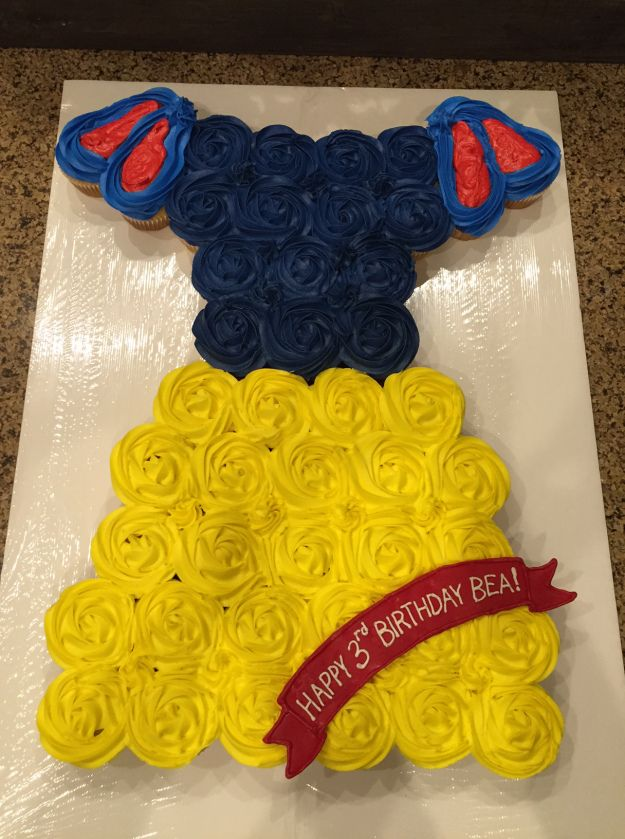 Snow White Cupcake Cake, Birthday Cake, Princess Cake