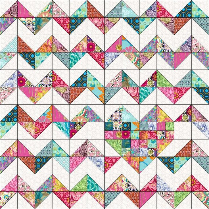 Looking for your next project? You're going to love iHeart Chevrons Quilt Pattern by designer Marie Joerger. - via @Craftsy