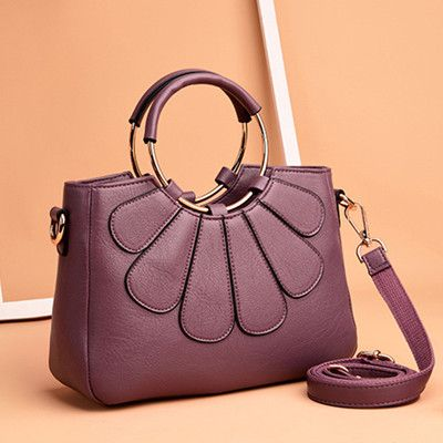 Hot-sale designer Women PU Solid Casual Handbags Flower Stitching Concise Shoulder Bags Online - NewChic Mobile