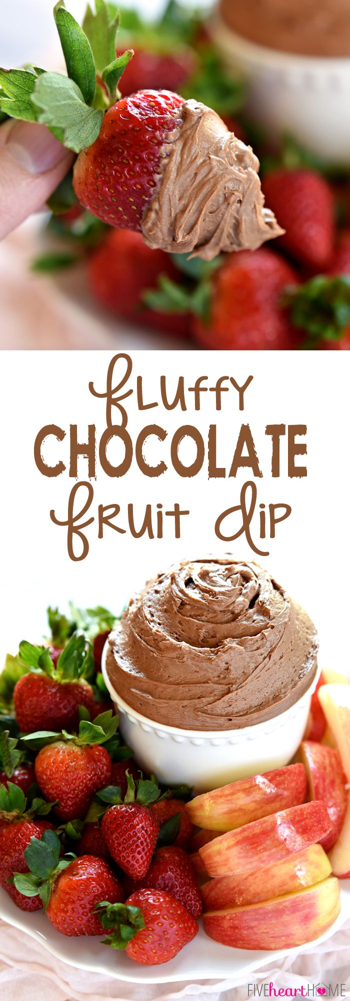 Fluffy Chocolate Fruit Dip FoodBlogs.com                                                                                                                                                                                 More