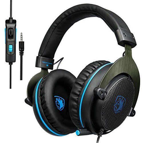 SADES Gaming Headphone … GAMING HEADSET with VARIOUS COMPATIBLE:Compatible with PC Windows XP, Win7, Win8, Win 10 and MAC ?Mobile Phone? XBOX ONE , PS4. Please note that you need extra Microsoft Adapter ?Not included?if you own an old version Xbox One controller. Folding and Retractble noise-cancelling boom mic:R3 PC headsetsReduces background noise for clear voice pick up and rotates up and out of the way ?Retractable ,flexible and omnidirectional microphone can pick up th