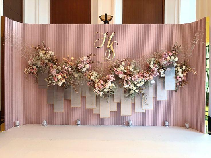 Backdrop 2018 Decoration Hugweddingplanner Flowers Ommee Floral Wedding In Thailand Ide Perkawinan Latar Belakang Pernikahan Bunga Perkawinan