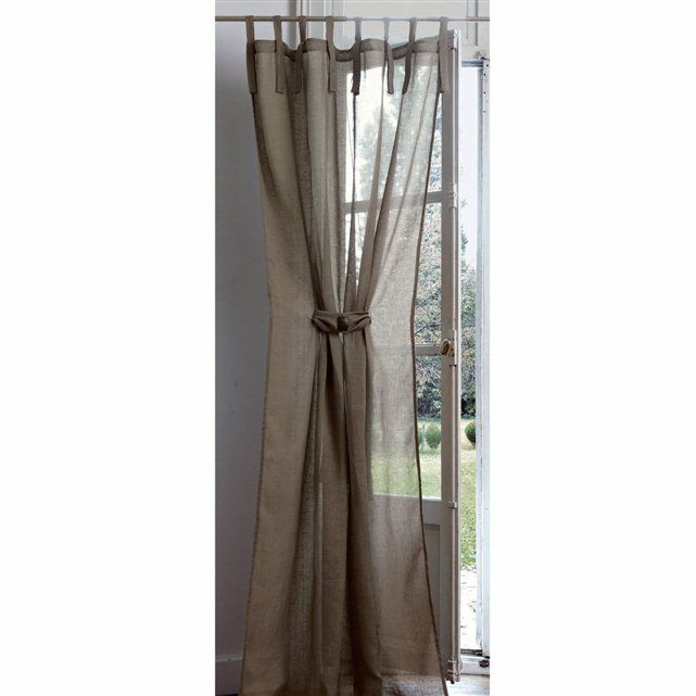 Linen Muslin TabTop Curtain with TieBack home Pinterest Tops, Curtains and Tab top curtains