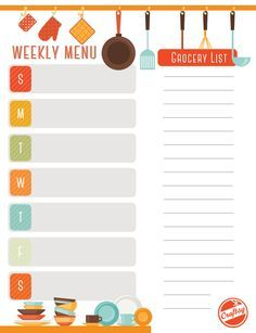 Download this FREE printable weekly meal planner and save time and money on mealtime this week.